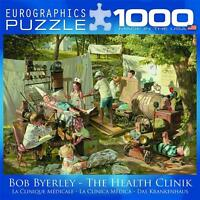 Eurographics Puzzle The Health Clinic Bob Byerley 1000 Pc Nostalgia 8000-0444