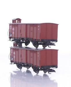 2x-MARKLIN-46160-HO-3-RAIL-GERMAN-DR-G1-BOXCAR-SLIDING-DOORS-amp-NEM-COUPLINGS