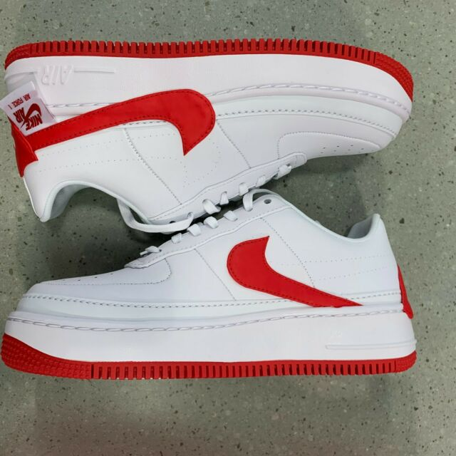Womens Nike Air Force 1 Af1 Jester XX Ao1220 106 White Red Shoes Sz 9 US