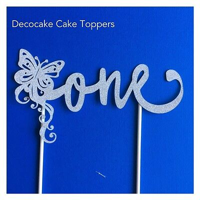 Fabulous 1St First Birthday Butterfly Cake Toppers Silver Or Gold Aus Funny Birthday Cards Online Kookostrdamsfinfo