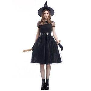 733d2670cd2c Image is loading Adult-Women-Black-Magic-Witch-Halloween-Costume-Carnival-
