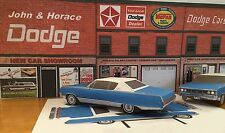 Papercraft 1968 Dodge Monaco 2 door hardtop Paper Car EZU-build Toy Model Car