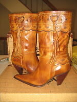Charlie 1 Horse 'i4645' Western Boots Womens Gold Tan Size 8.5 M
