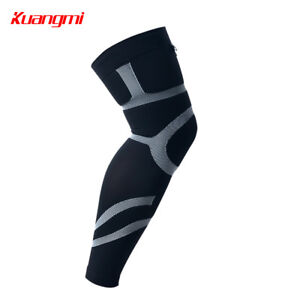 67423fe8a2 Image is loading Kuangmi-Sports-Compression-Leg-Sleeve-support-Running- Cycling-
