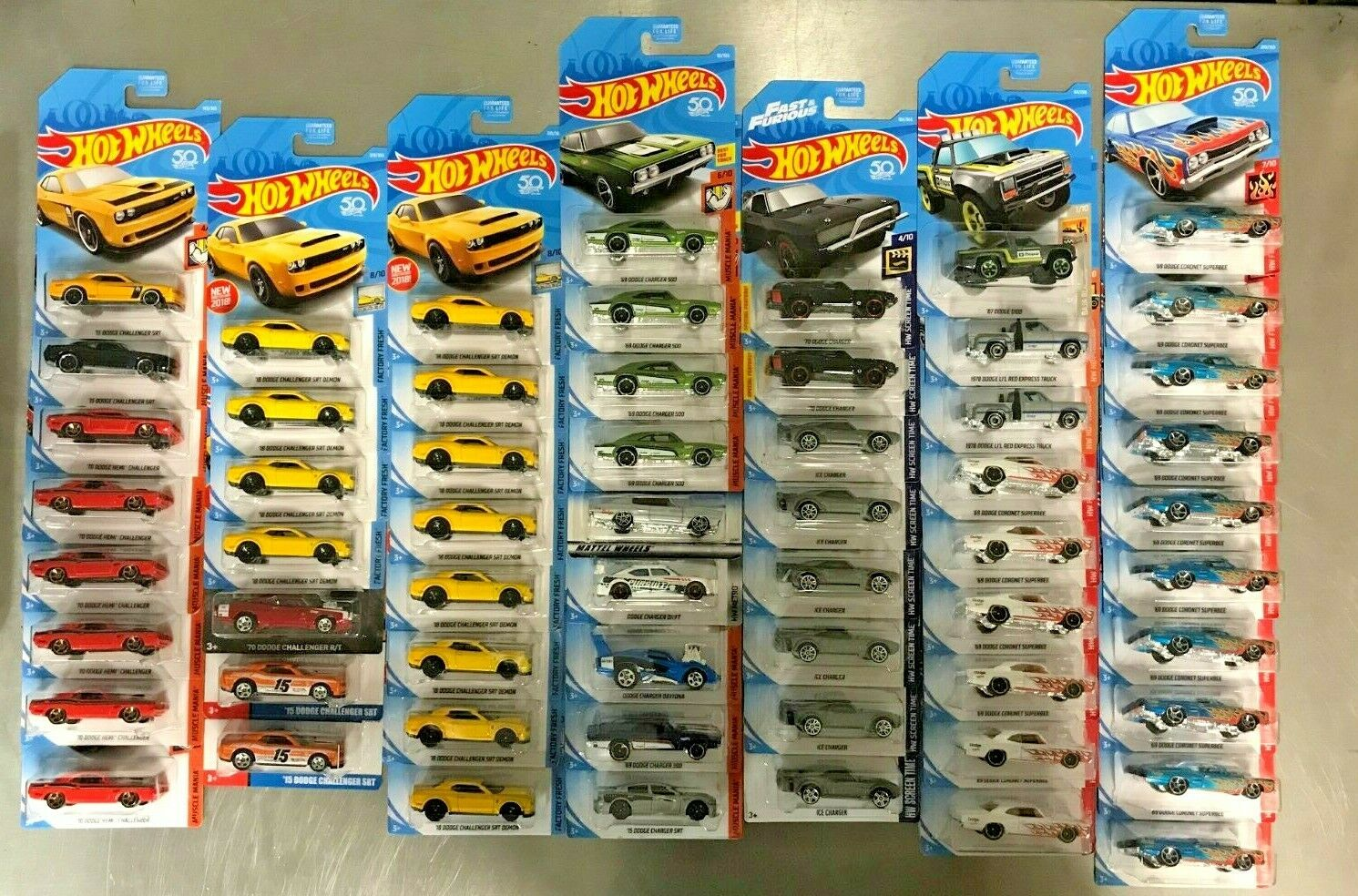Collection LOT of 59 Hot Wheels Dodge Muscle Car HEMI Ice Charger Challenger