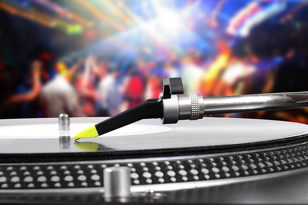 Fototapete Dj Plattenspieler Musik Party - Kleistertapete oder Selbstklebende