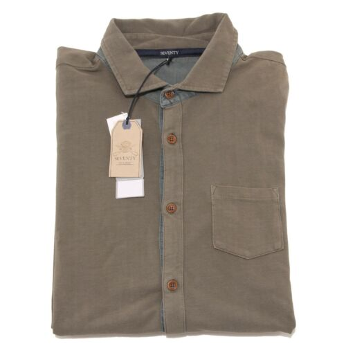 manches shirts longues à Homme Green Homme shirts 4093o T Seventy Chemise T qwE6wH1