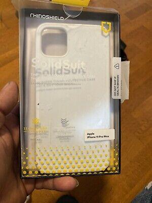 Rhinoshield Iphone 11 Pro Max Solidsuit Premium Matte Finish Classic White Case Ebay