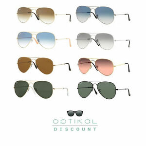 occhiali-da-sole-RAY-BAN-3025-RB3025-large-metal-AVIATOR-uomo-donna-sunglasses