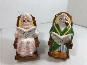 Groovy Details About Pair Vintage Lefton Piggy Bank Retirement Fund Grandma Grandpa In Rocking Chair Squirreltailoven Fun Painted Chair Ideas Images Squirreltailovenorg