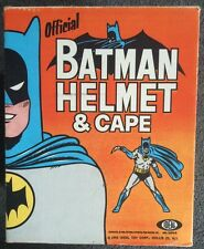 VINTAGE 1966 IDEAL BATMAN CAPE & COWL WITH BOX AND INSTRUCTIONS & FOAM PADS!