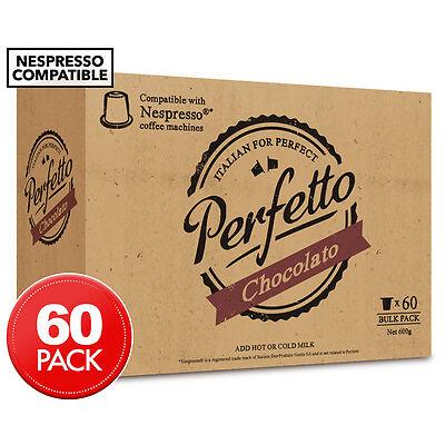 Perfetto Nespresso Compatible Hot Chocolate Capsules 60pk