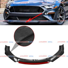 Carbon Fiber Car Front Bumper Red Lip Body Kit Spoiler Splitter For Ford Mustang Fits Mustang