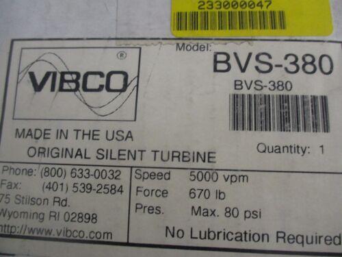 Vibco Model BVS-380 Pneumatic Vibrator New Old Stock  /<