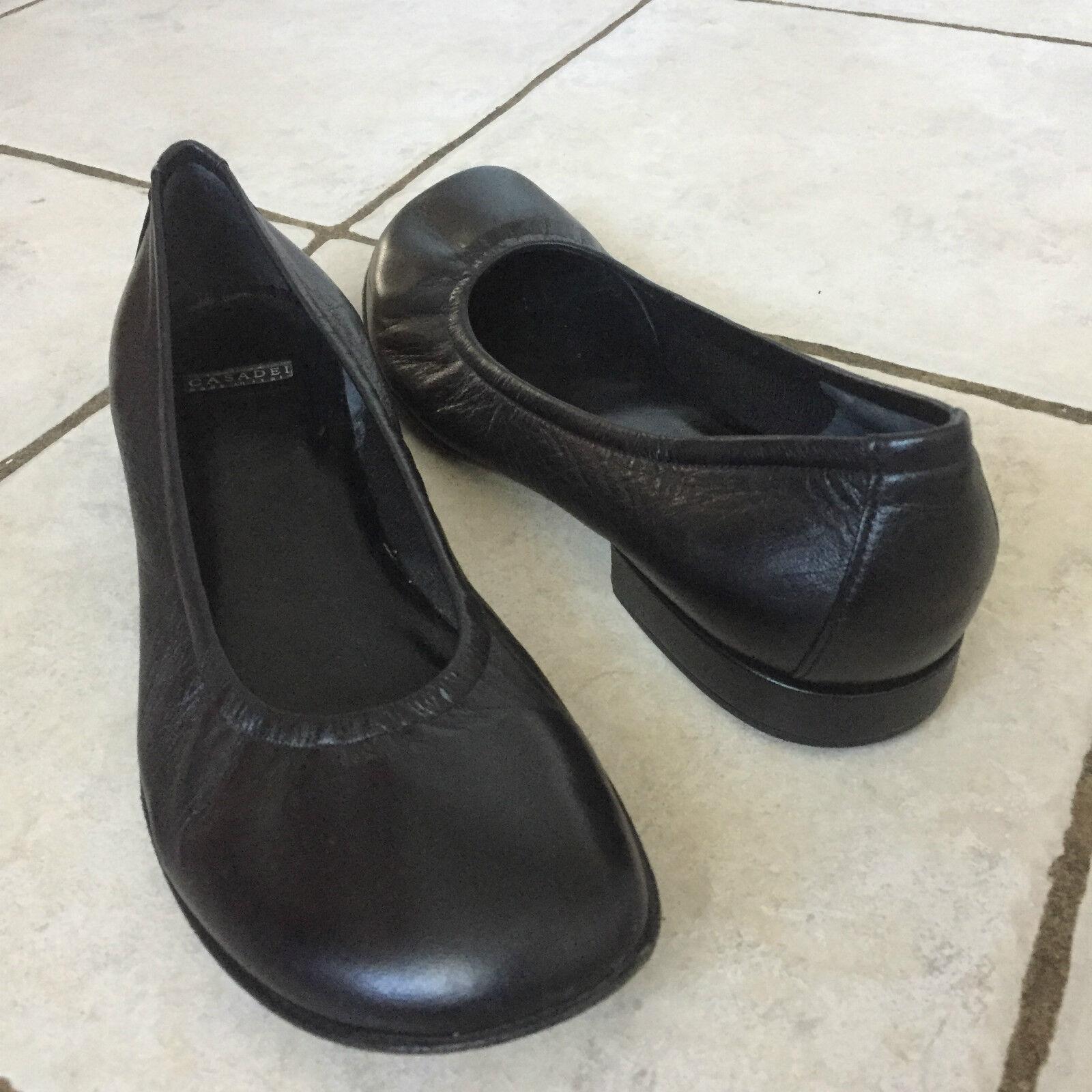 Miglior prezzo Casadei nero Leather Ballet Flats  Dimensione Dimensione Dimensione 8B  autentico online