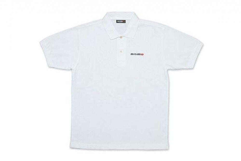 Nissan Nismo Basic Polo Shirt Blanc Nouveau Polyester 60% Du Japon AgréAble Au Palais