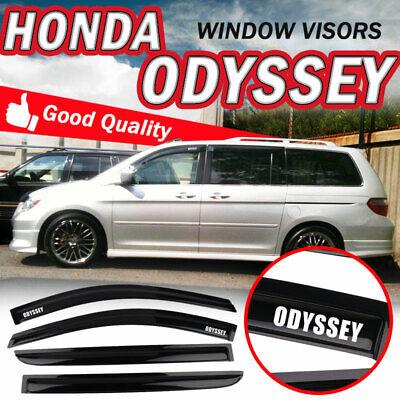 4pcs Outside Mount Smoke Sun//Rain Guard Window Visors Fit 05-07 Honda Odyssey