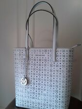 a2c3f8113247 item 1 NWT Michael Kors  298 Hayley Large Floral North South Top Zip Tote  Handbag White -NWT Michael Kors  298 Hayley Large Floral North South Top  Zip Tote ...