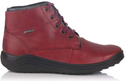 Romika MADERA 08 Ladies Leather Waterproof Lace Up PU Sole Ankle Boots Carmin
