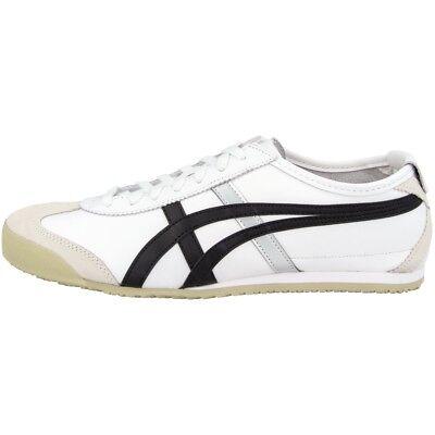 Asics Onitsuka Tiger Mexico 66 Schuhe White Black Retro Sneaker Dl408-0190 Reinweiß Und LichtdurchläSsig
