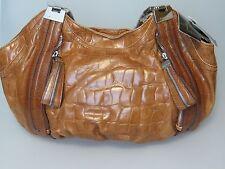 B. MAKOWSKY Brown Leather PHOENIX E/W  Handbag Bag NEW NWT MSRP $168