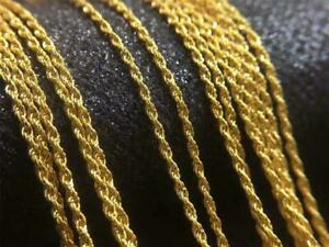 Wholesale-Pure-18K-Yellow-Gold-Necklace-Solid-AU750-Twisted-Rope-Chain-Necklace