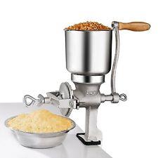 Hand Grain Mill Crank Corn Grinder Wheat Grains Nuts Oats Manual Cast Iron NEW