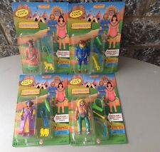 Vintage 80s# 4x ACTION FIGURES OF THE WEST  BATTERY OPERATED#MOSC