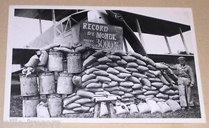 Carte-Postale-Aviation-Record-du-monde-FARMAN-1924