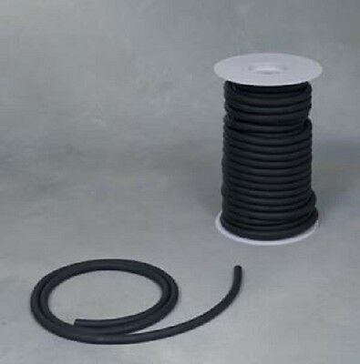 """50 Continuous Feet 1//8/""""ID x 1//32 x 3//16/"""" OD Natural Black Latex Rubber Tubing"""