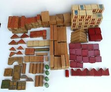 Vintage 1930s Children Wood Building Blocks 200 Pieces