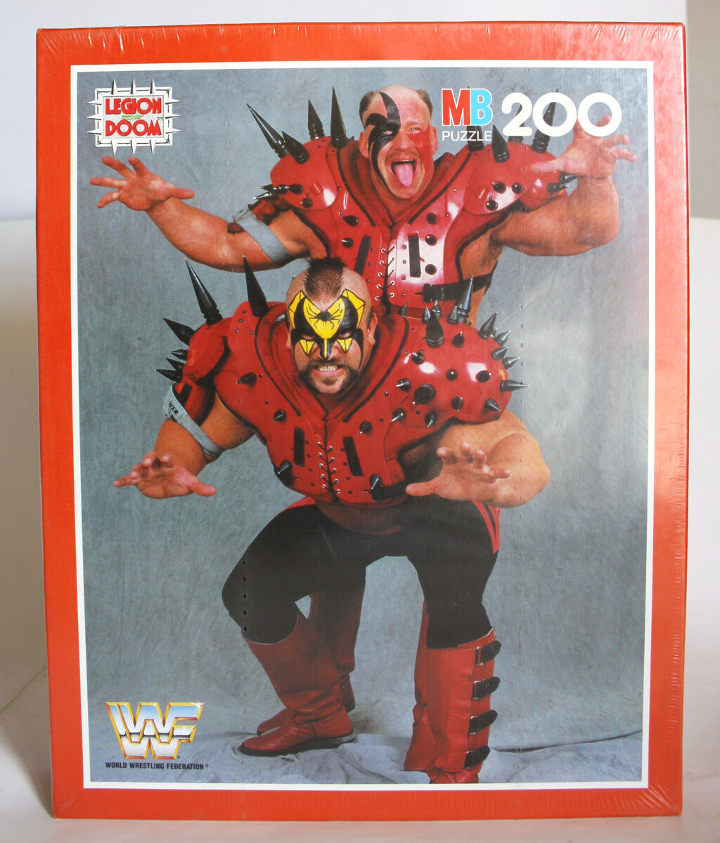 VINTAGE 1991 WWF WWE LEGION OF DOOM PUZZLE 200 PIECES MB VINTAGE NEW SEALED