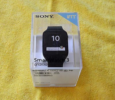 Sony SmartWatch 3 SWR50 Black, Android Wear, GPS, NFC, Compass