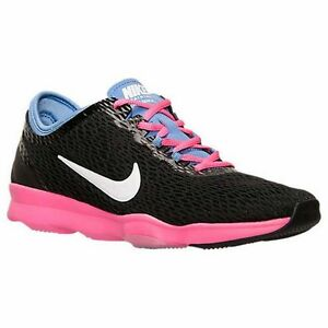 862a9df75e3d Nike Zoom Fit Cross Training Shoes Womens 6 Black Polar Pink Pow ...