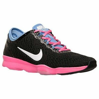 Nike Zoom Fit Cross Training Shoes Womens 6 Black/Polar/Pink Pow 704658 001 NEW