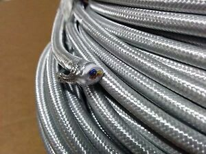 simple vintage 3 wire round cloth covered wire antique pendant lamp rh ebay com cloth wrapped wiring harness cloth wrapped wiring harness