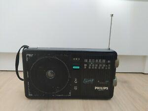 Philips Slim Line Portable FM MW LW Radio Retro 1980s