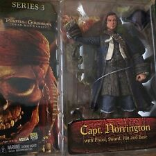 Neca Pirates of carribean Serie 3 Capt. Norrington with pistol, sword, hat and b