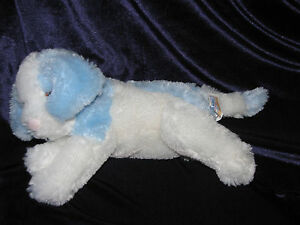 Toys R Us Stuffed Dog White And Blue