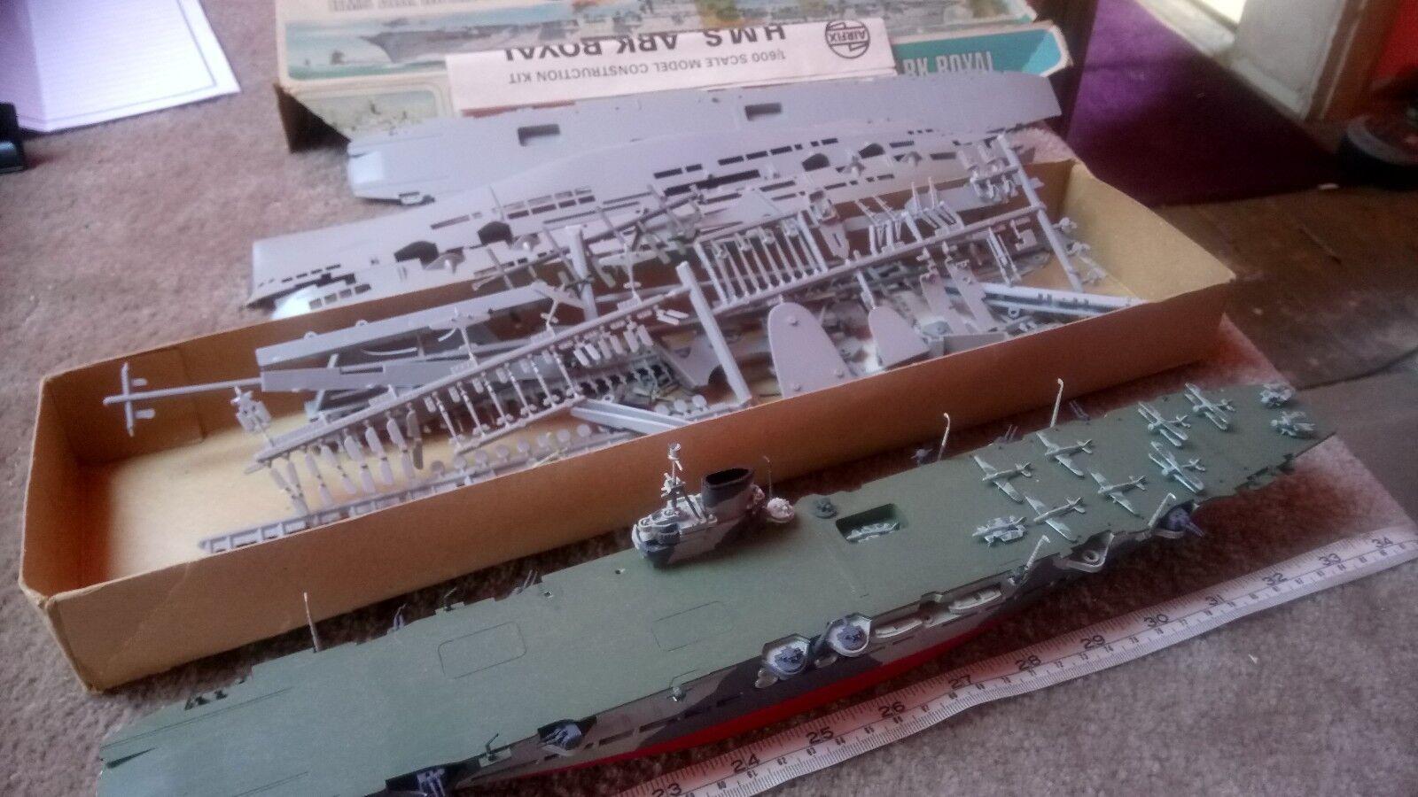1 600 HMS ARK ROYAL CARRIER WW2 (x2) BUILT & UNBUILT LOT SCRAP SPARES OR REPAIR.