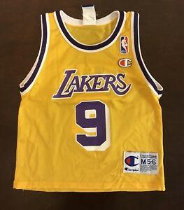 396709a7530 Rare Vintage Champion Los Angeles Lakers Nick Van Exel Jersey Kids M ...