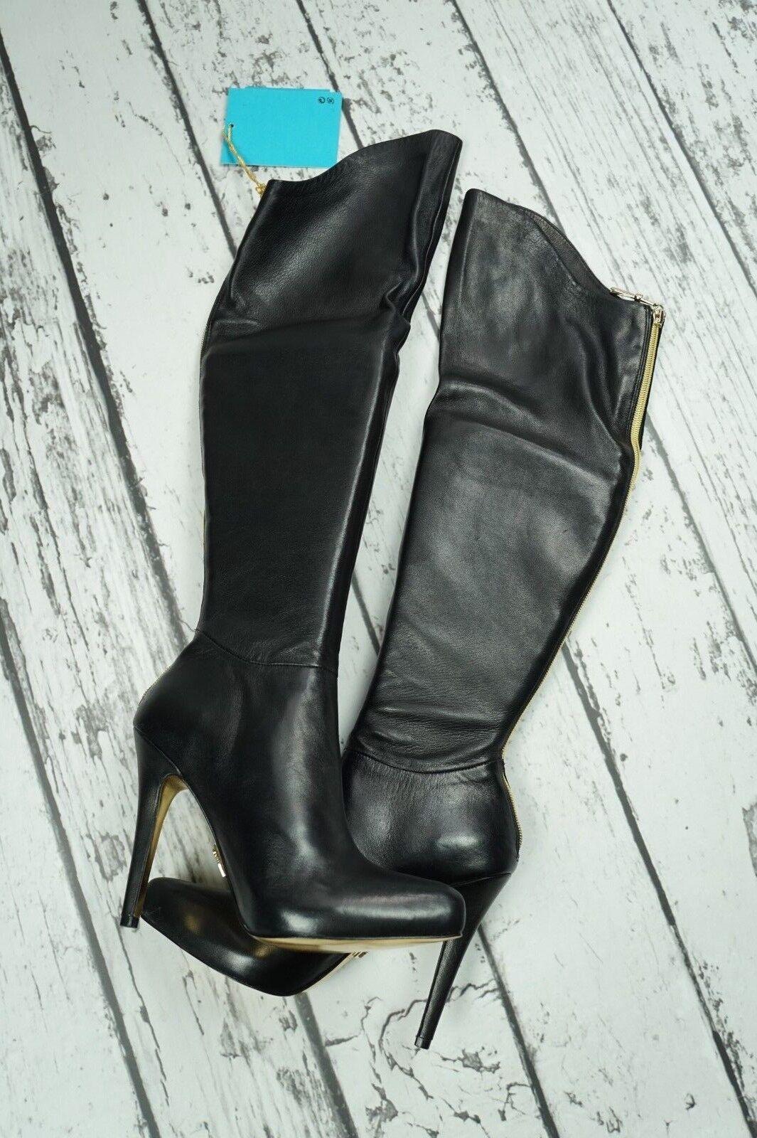 moda ANNA ANNA ANNA DELLO RUSSO H&M nero Leather The Knee stivali Overknees stivali EUR 38 US7 7  la migliore offerta del negozio online