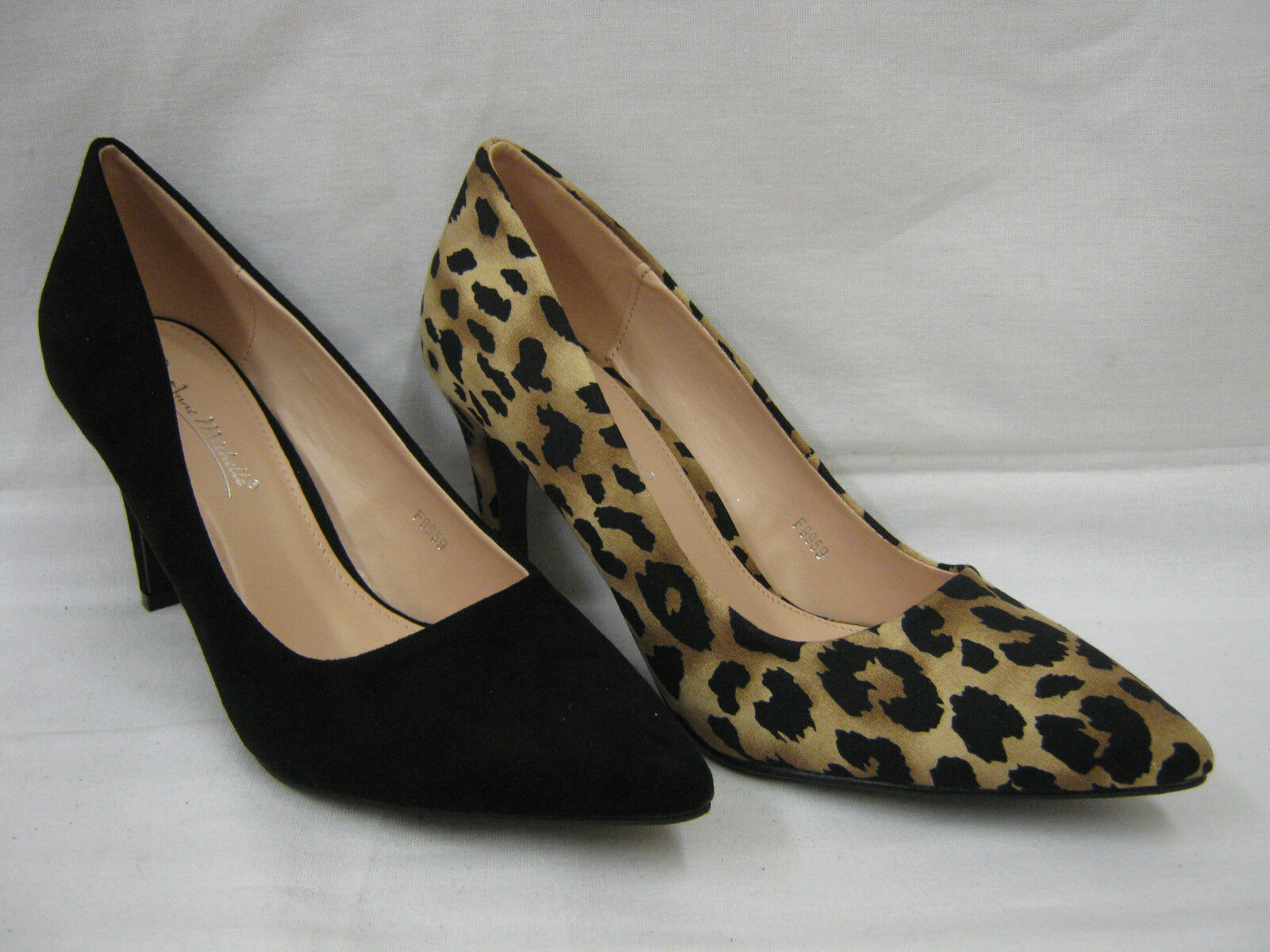 Mujer Anne Michelle Tacón Alto de salón Zapatos con en punta 9959