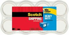 Scotch Heavy Duty Shipping Packaging Tape 188 Inches X 546 Yards 8 Rolls New