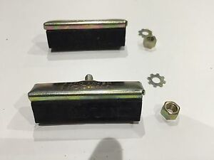 PAIR RALEIGH STYLE ROD BRAKE BLOCKS PAD CLASSIC RETRO PADS BIKE SHOES VINTAGE