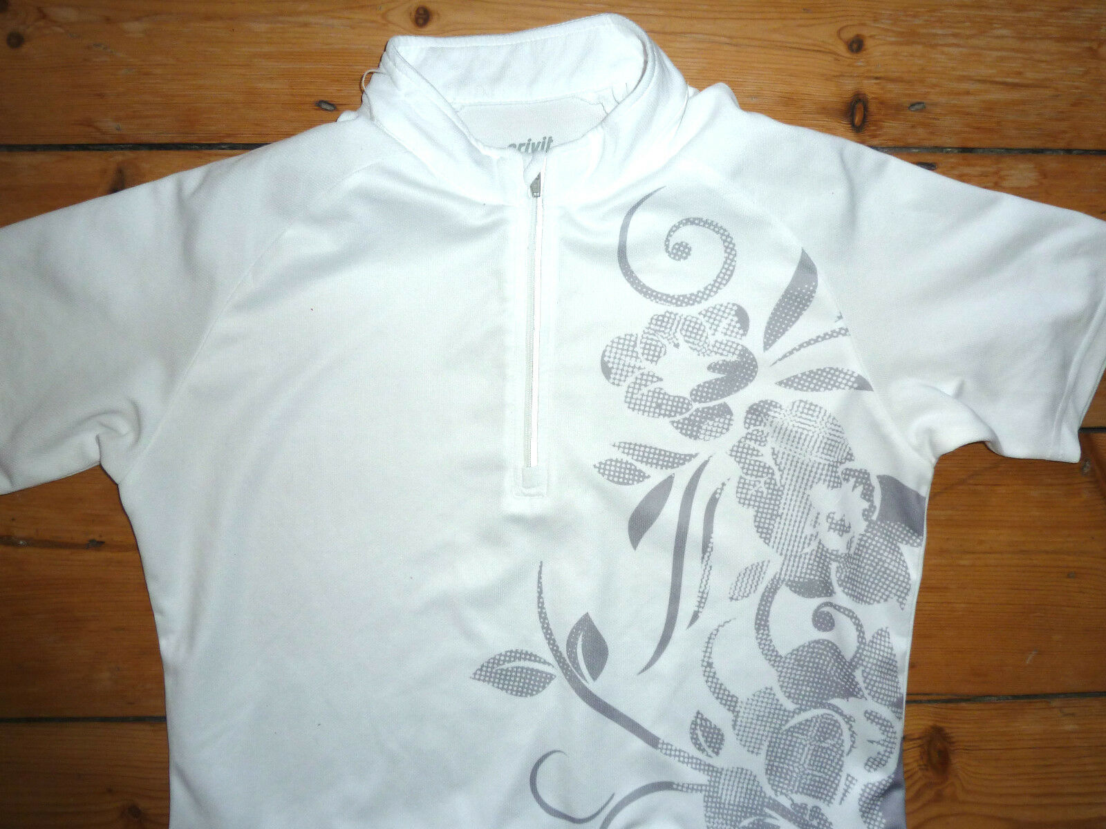 white Uni Cyclisme Maillot Grand Cycle Artistique Conception Velo Gilet Crivit