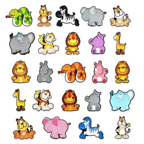 12 x Novelty Fun Soft Jungle Animal Character Fridge Magnets 2 Sets available.