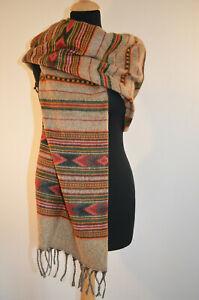 100/% Yakwolle Tibetischer Schal Handarbeit