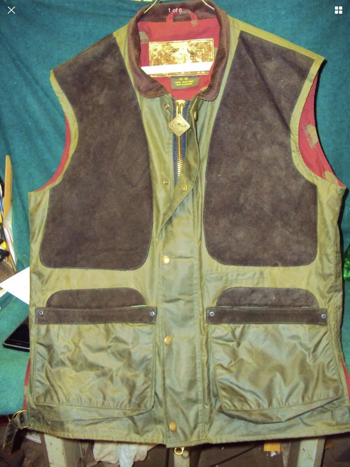 Hunting Vest Waxed Large For Casual Or Field   fantastic quality