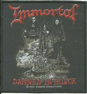 IMMORTAL-damned-in-black-2001-WOVEN-SEW-ON-PATCH-official-no-longer-made